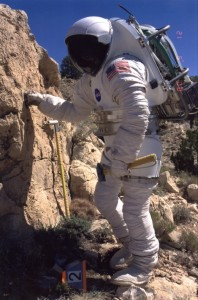 Dean Eppler in space suit